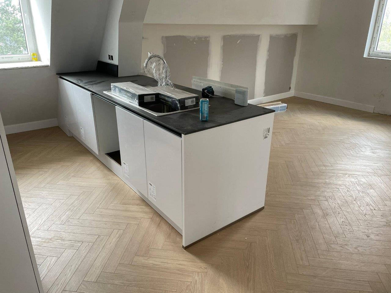 wood eco cuisine laqué blanc